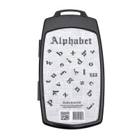 Stamping Nailart SET 3D Stamping Alphabet Collection 18...