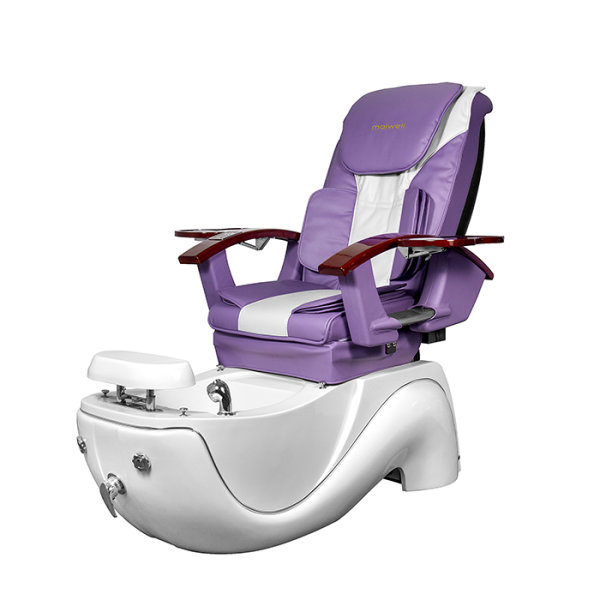 Spa Pedikürestuhl Galaxy Lila/Weiß