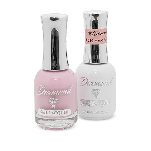 Diamond Double Gel + Nagellack No.16 Hello Pink