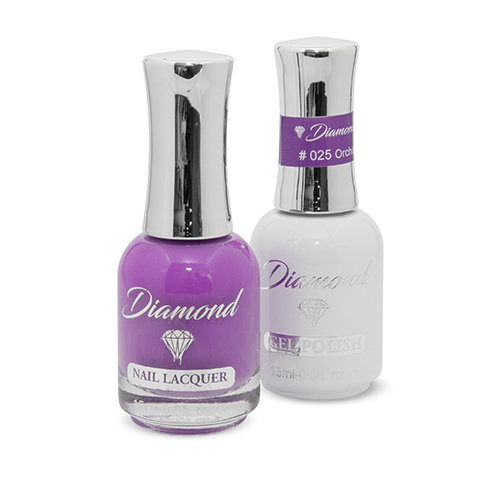 Diamond Double Gel + Nagellack No.25 Orchid