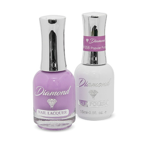 Diamond Double Gel + Nagellack No.58 Popular Purple