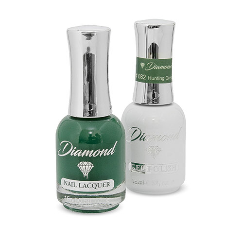 Diamond Double Gel + Nagellack No.82 Hunting Green