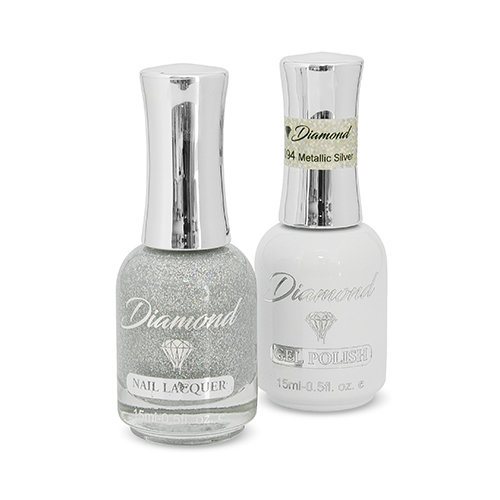 Diamond Double Gel + Nagellack No.94 Metallic Silver