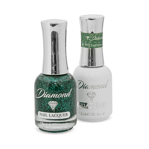 Diamond Double Gel + Nagellack No.116 Dark Green