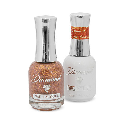 Diamond Double Gel + Nagellack No.117 Rose Gold