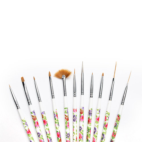 Nailart Pinsel Set Flora 10er Set