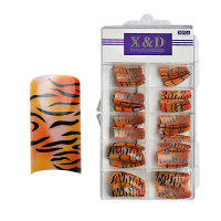 XD Design Nagel Tips 70 Stk. Red-Orange Tiger