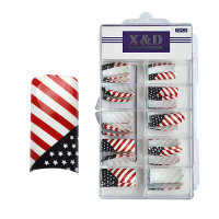 XD Design Nagel Tips 70 Stk. Star Stripes