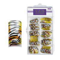 XD Design Nagel Tips 70 Stk. Tiger Glamour