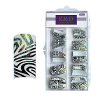 XD Design Nagel Tips 70 Stk. Sparkling Zebra