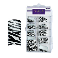XD Design Nagel Tips 70 Stk. Zebra