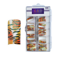 XD Design Nagel Tips 70 Stk. Sparkling Tiger