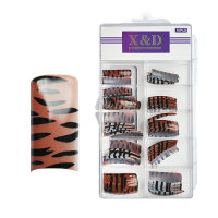 XD Design Nagel Tips 70 Stk. Red Tiger