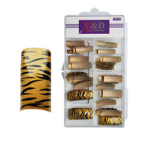 XD Design Nagel Tips 70 Stk. Golden Tiger
