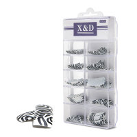 XD Design Nagel Tips 70 Stk. Zebra 2