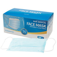 Face masks nasal mask surgical mask, 3 layers, blue, 50 pcs