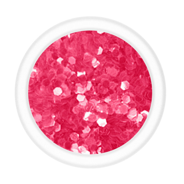 Hexagon Pailletten - Pink (145E)