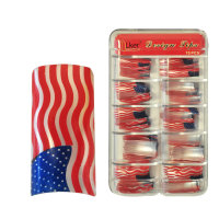 LKer Design Nageltips 70Stk USA Flag