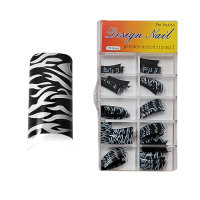 Design Nagel Tips - Pro Fashion Black Zebra