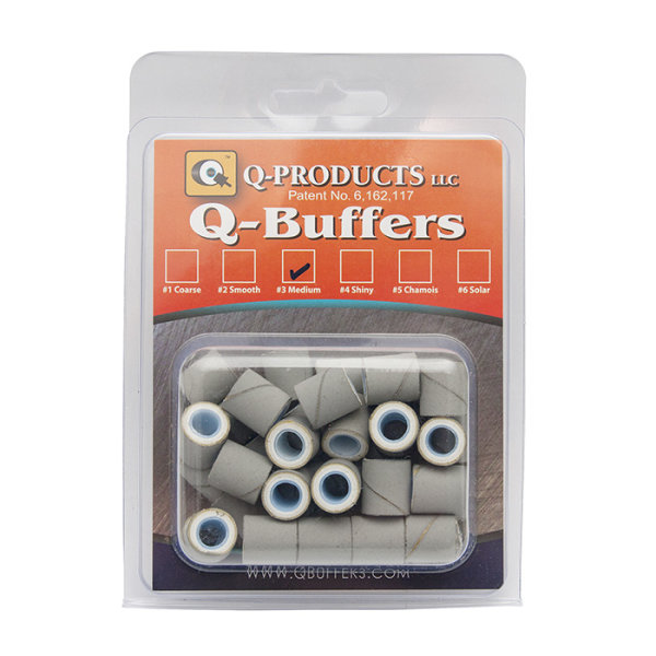 Q-Buffers No. 3 Medium Grau, 40 Stück